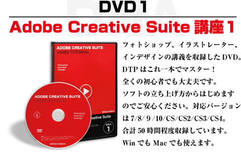 DNA1 動画でわかるAdobe Creative Suite